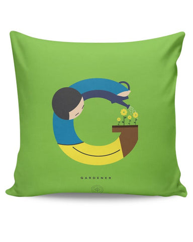 Alphabet People - Gardener Cushion Cover Online India