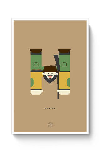Alphabet People - Hunter Poster Online India