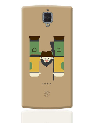 Alphabet People - Hunter OnePlus 3 Cover Online India