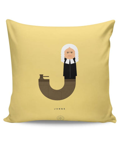 Alphabet People - Judge Cushion Cover Online India