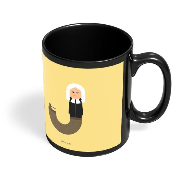 Alphabet People - Judge Black Coffee Mug Online India