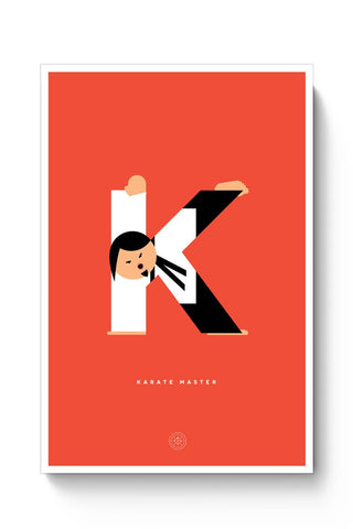 Alphabet People - Karate Master Poster Online India