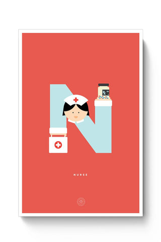 Alphabet People - Nurse Poster Online India
