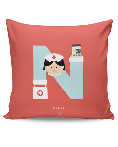 Alphabet People - Nurse Cushion Cover Online India