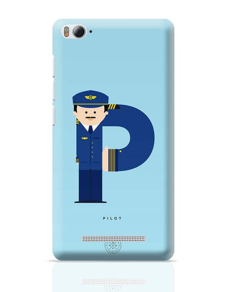 Alphabet People - Pilot Xiaomi Mi 4i Covers Cases Online India