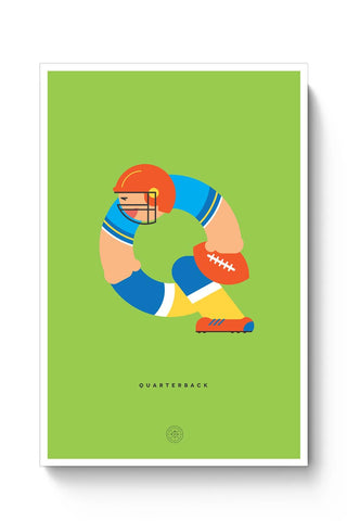Alphabet People - Quarterback Poster Online India