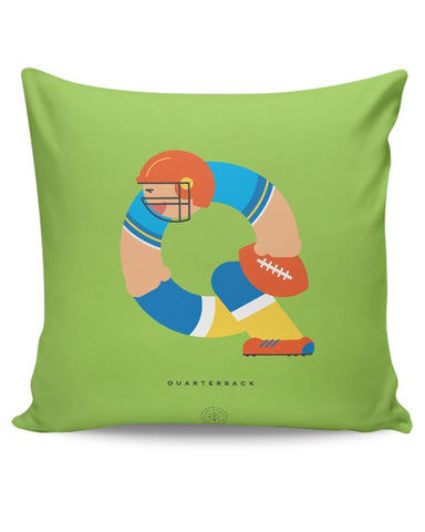 Alphabet People - Quarterback Cushion Cover Online India