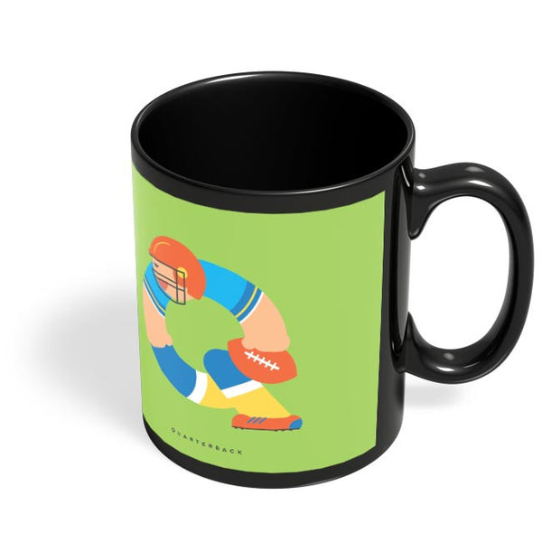 Alphabet People - Quarterback Black Coffee Mug Online India