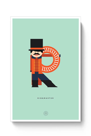 Alphabet People - Ringmaster Poster Online India