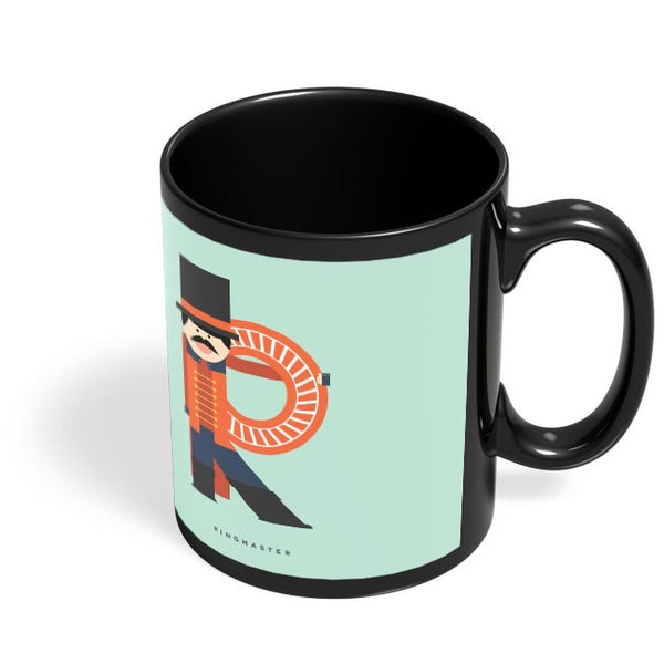 Alphabet People - Ringmaster Black Coffee Mug Online India