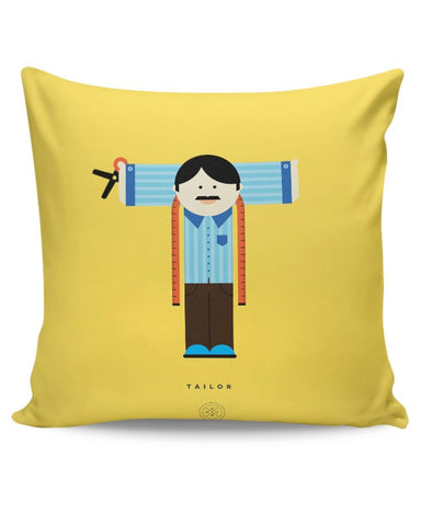 Alphabet People - Tailor Cushion Cover Online India