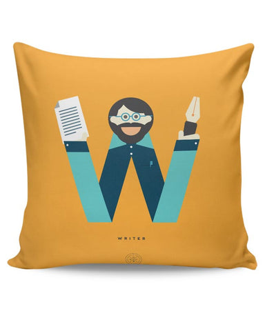 Alphabet People - Writer Cushion Cover Online India