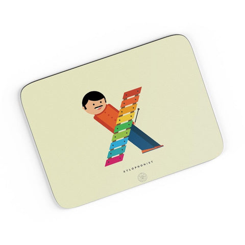 Alphabet People - Xylophonist A4 Mousepad Online India