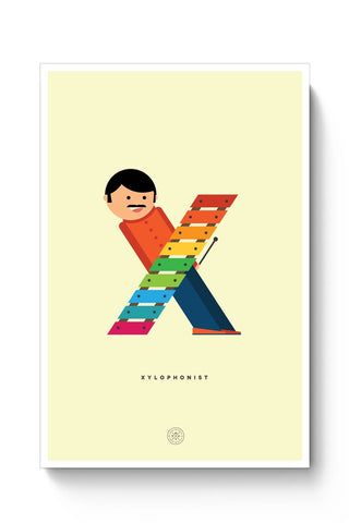Alphabet People - Xylophonist Poster Online India