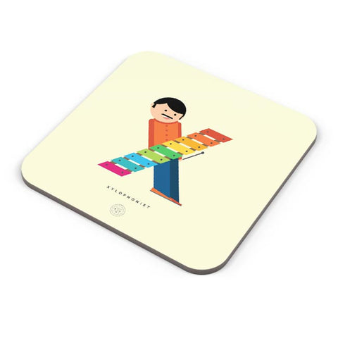 Alphabet People - Xylophonist Coaster Online India