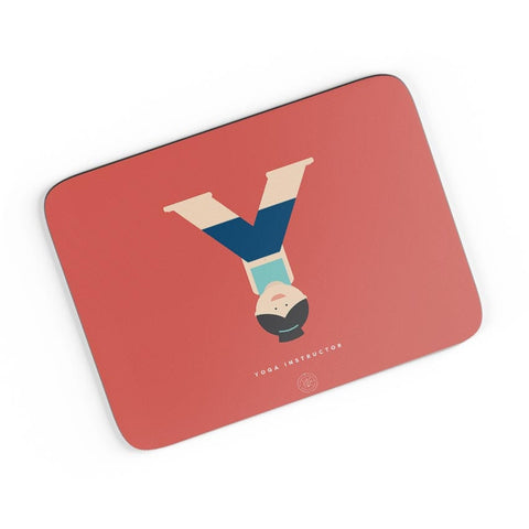 Alphabet People - Yoga Instructor A4 Mousepad Online India