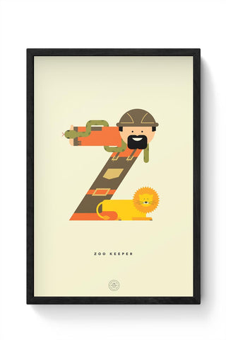 Alphabet People - Zoo Keeper Framed Poster Online India