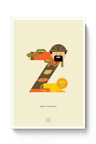 Alphabet People - Zoo Keeper Poster Online India