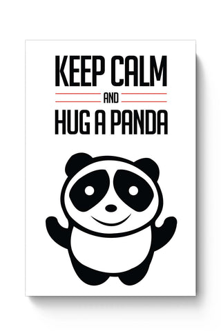 Posters Online | Hug A Panda Poster Online India | Designed by: NotionInk