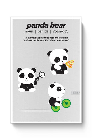 Posters Online | Define A Panda Poster Online India | Designed by: NotionInk