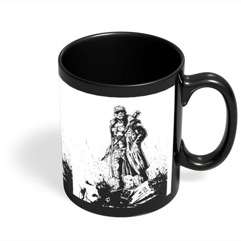 Coffee Mugs Online | Man With Gun Black Coffee Mug Online India