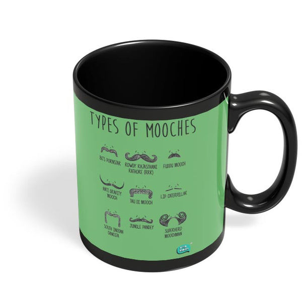 Types Of Mooches Info Graphic Illustration Black Coffee Mug Online India