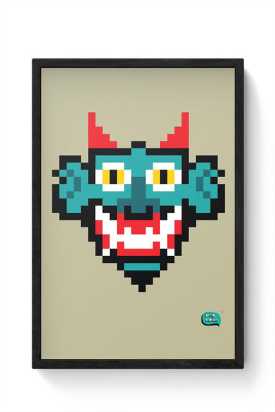 Pixelated Raakshasa Minimal Framed Poster Online India