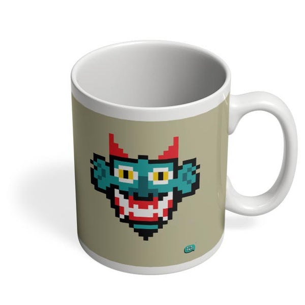 Pixelated Raakshasa Minimal Coffee Mug Online India