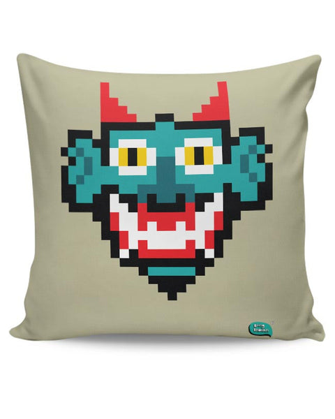 Pixelated Raakshasa Minimal Cushion Cover Online India