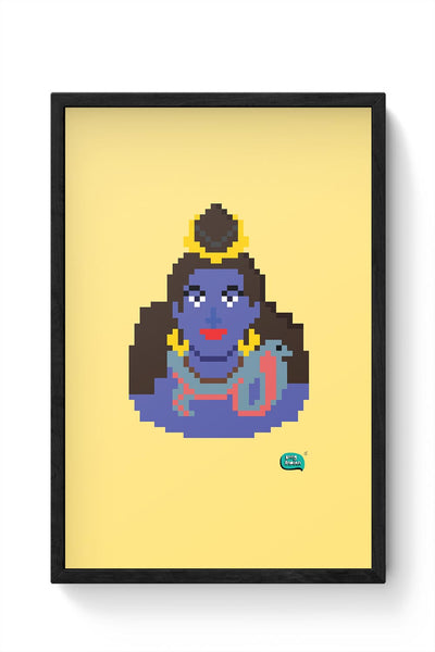 Lord Shiva Pixel Art Illustration Framed Poster Online India