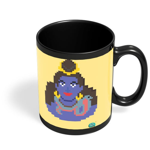 Lord Shiva Pixel Art Illustration Black Coffee Mug Online India