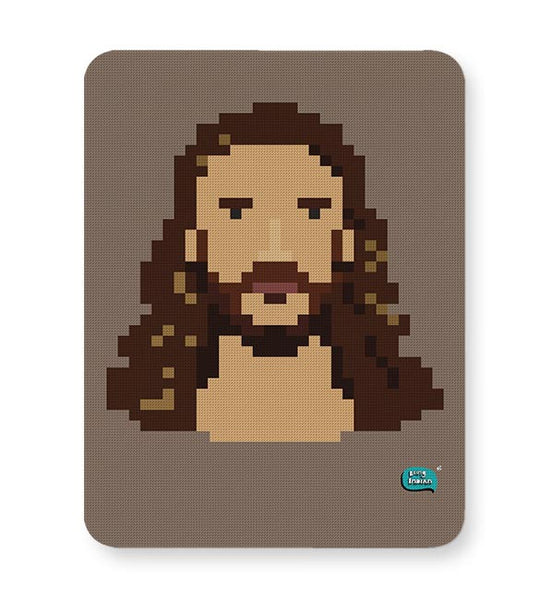 Jesus Christ Pixel Art Illustration Mousepad Online India