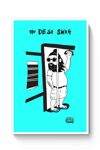 Desi Swag Illustration  Poster Online India