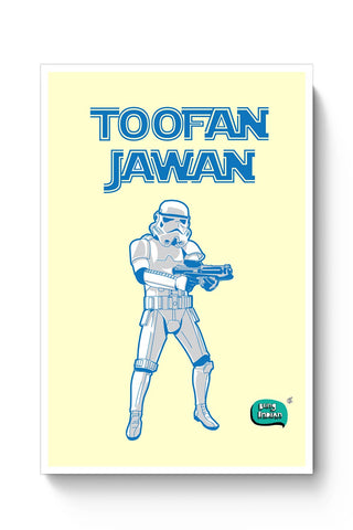 Buy Toofan Jawan Funny Illustration Poster