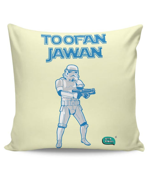 Toofan Jawan Funny Illustration Cushion Cover Online India