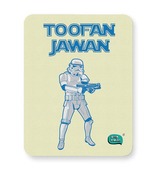 Toofan Jawan Funny Illustration Mousepad Online India