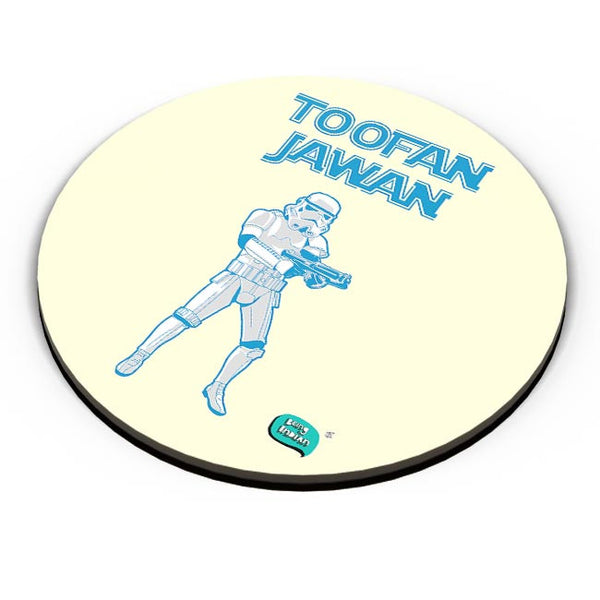 Toofan Jawan Funny Illustration Fridge Magnet Online India