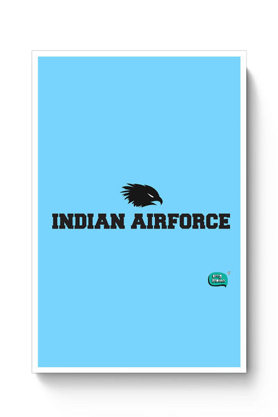 Indian Air Force Typographic Illustration Poster Online India