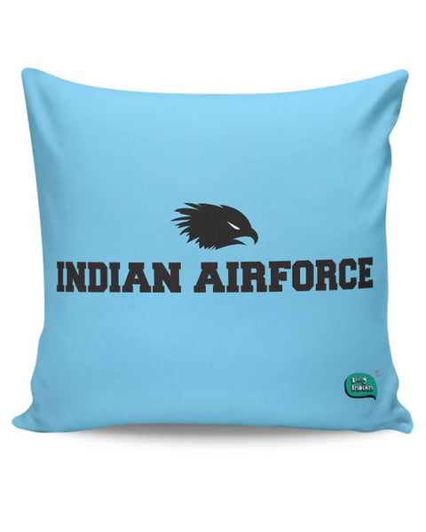 Indian Air Force Typographic Illustration Cushion Cover Online India