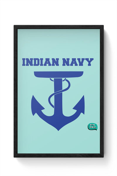 Indian Navy Symbol Minimalist Illustration Framed Poster Online India
