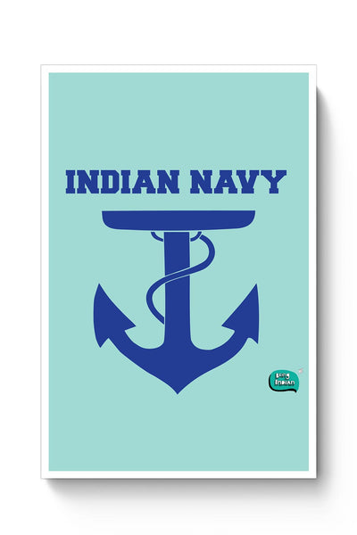 Buy Indian Navy Symbol Minimalist Illustration Poster