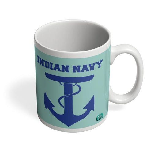 Indian Navy Symbol Minimalist Illustration Coffee Mug Online India