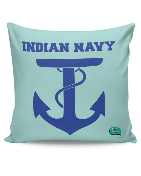 Indian Navy Symbol Minimalist Illustration Cushion Cover Online India