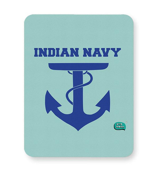 Indian Navy Symbol Minimalist Illustration Mousepad Online India