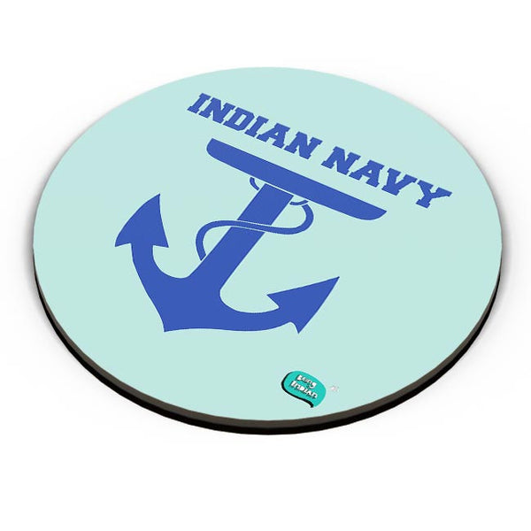 Indian Navy Symbol Minimalist Illustration Fridge Magnet Online India
