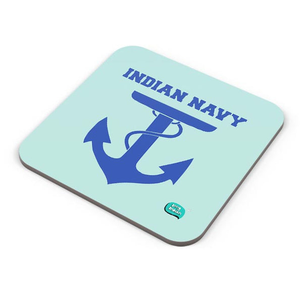 Indian Navy Symbol Minimalist Illustration Coaster Online India