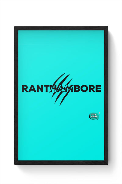 Rathambore Typographic Illustration Framed Poster Online India