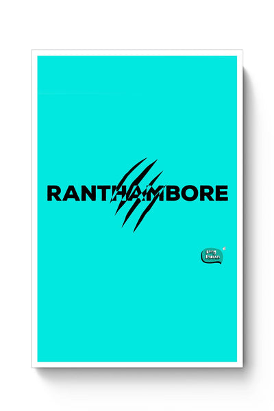 Rathambore Typographic Illustration Poster Online India