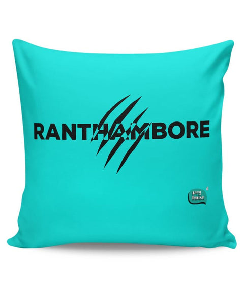 Rathambore Typographic Illustration Cushion Cover Online India