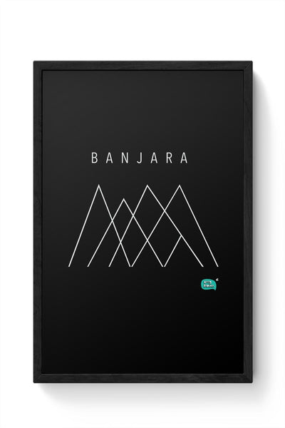 Banjara Minimalist Illustration Framed Poster Online India